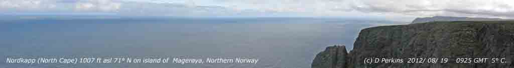 North Cape. Between Norwegian Sea and Barents Sea, with Arctic Ocean to the north.