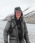 The author: Dr. Donald Perkins at the weather station but, sometimes, on expedition.