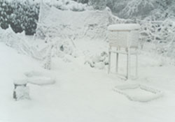 The weather station under snow on 28 Dec 2000.