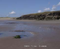 Traeth Aberffraw at low water. Click for panorama but please close window after viewing.