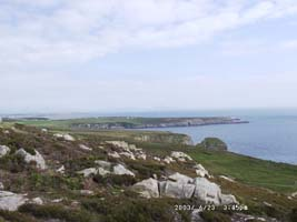 View near the top of rocky South Stack.