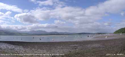 View of Menai Strait looking SW from Beaumaris.