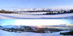 Panoramic views of the snow. Click for larger