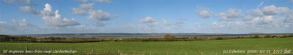 SE Anglesey viewed from across the water near Llanfairfechan.
