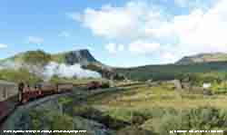 Steaming towards the Aberglaslyn Pass on the WHR.