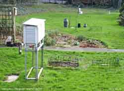 Llansadwrn weather station: Click to see annotated instruments.