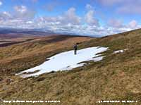 Snow patch on Moel Sych, Berwyn Mountains.