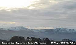 Snow on the Carneddau Mountains.