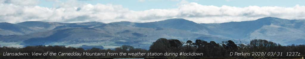 View of the Carneddau Mountains, Wales in #lockdown.