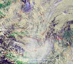 NOAA 16 image on 24 Feb 2005. Courtesy of NOAA and Bernard Burton.