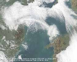 MODIS AQUA image at 1325 GMT on 30 January 2005, courtesy of the Rapid Response Team at NASA/GFSC.