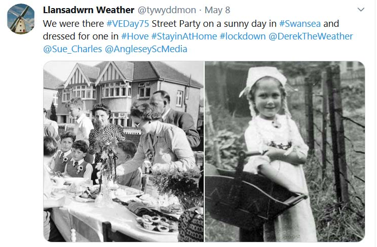 Tweet about 75th anniversary of VEDay ...